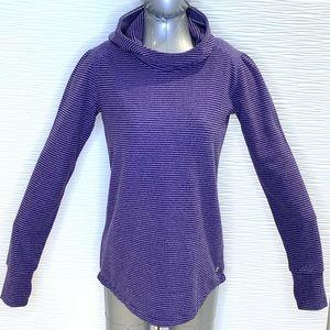 Triple Flip Purple Striped Hoodie Size 6
